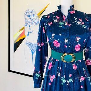 Beautiful Vintage 🌸Floral🌸 Print Secretary Dress